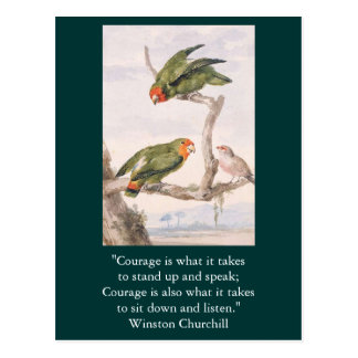 Inspirational card Courage 1 Post Card