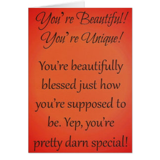 Inspirational Card for Women or Teen Girls