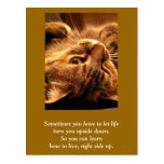 Inspirational card: Life up side down