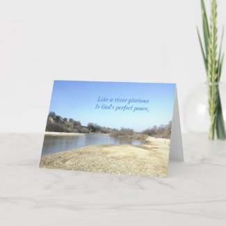Inspirational card: Like a River Glorious card