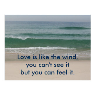 Inspirational card : Love is like the wind