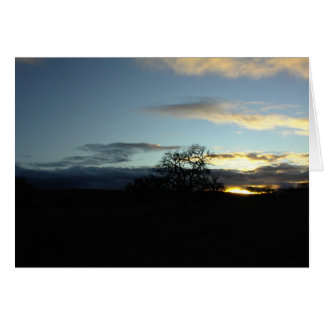 Inspirational Card: Oak in Templeton Sunset Card
