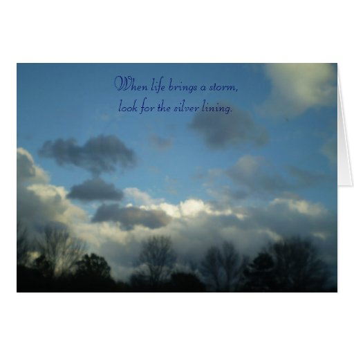 Inspirational card ~ Silver Lining