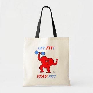 Inspirational Cartoon Fitness Totebag Bags