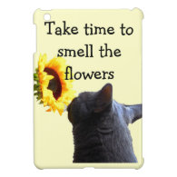 Inspirational Cat and Sunflower iPad Mini Cases