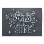 Inspirational Chalkboard Note Card