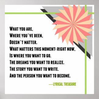 Inspirational Change Lyrical Treasure Poem Poster