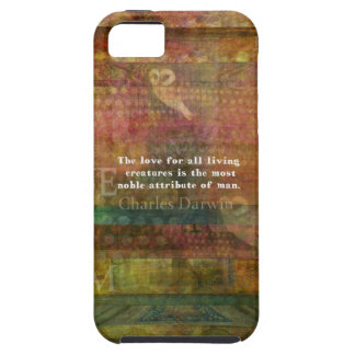 Inspirational Charles Darwin Animal Rights Quote iPhone 5 Cases