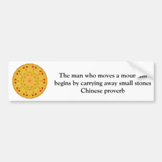 Inspirational Chinese proverb Car Bumper Sticker