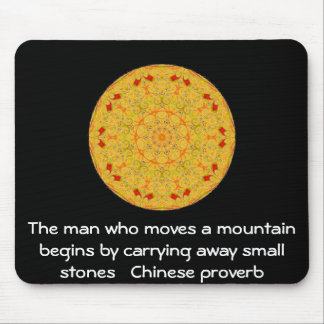 Inspirational Chinese proverb Mouse Pads