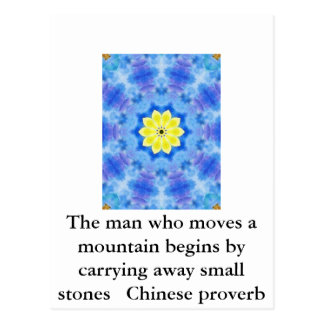 Inspirational Chinese proverb Postcard