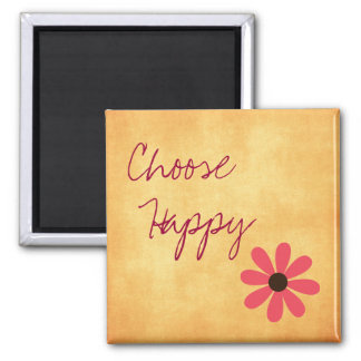 Inspirational Choose Happy Magnet