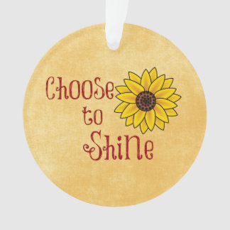 Inspirational Choose to Shine Quote with Sunflower
