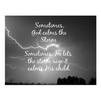 Inspirational Christian Encouragement God Quote Postcard