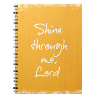 Inspirational Christian Quote Affirmation Prayer Spiral Note Book