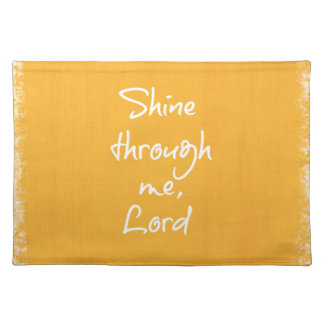 Inspirational Christian Quote Affirmation Prayer Placemat