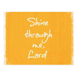 Inspirational Christian Quote Affirmation Prayer Postcard