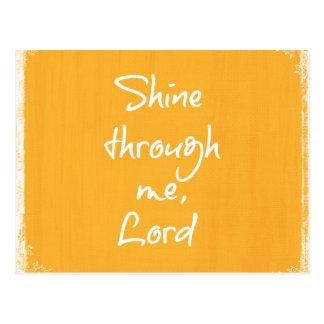 Inspirational Christian Quote Affirmation Prayer Postcard
