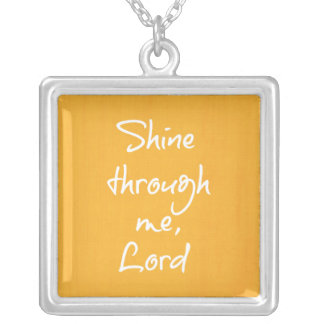 Inspirational Christian Quote Affirmation Prayer Square Pendant Necklace