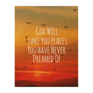 christian quote god will wood wall art