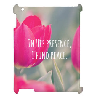 Inspirational Christian Quote God's Peace iPad Case