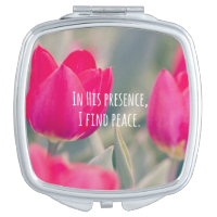 Inspirational Christian Quote God's Peace Mirror For Makeup