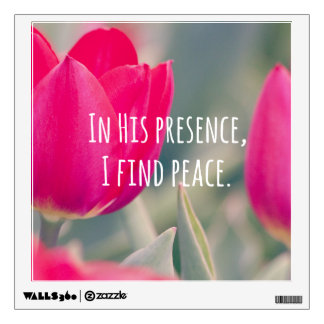 Inspirational Christian Quote God's Peace Wall Sticker