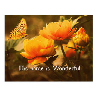 Inspirational Christian Quote: His Name is Postcard