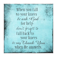Inspirational Christian Quote Message Stretched Canvas Print