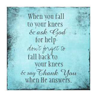 Inspirational Christian Quote Message Canvas Print
