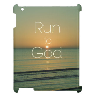 Inspirational Christian Quote Run to God Cover For The iPad