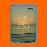 Inspirational Christian Quote Run to God iPad Mini Sleeves