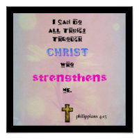 Inspirational Christian Scripture Quote   Typography Poster