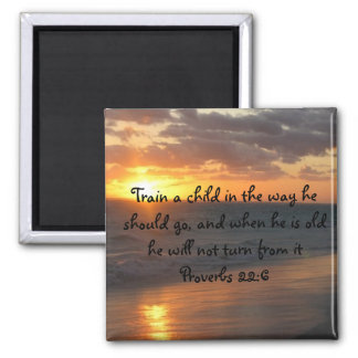 Inspirational Christian SUNSET Scripture Art Quote Magnet