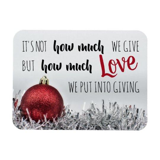 quote w/ red ornament Magnet   Zazzle.com
