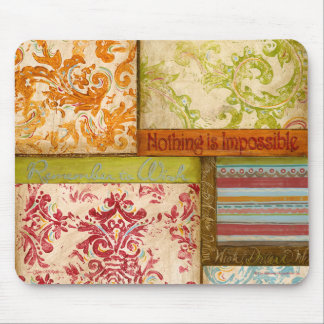 Inspirational Collage 1 by Kate McRostie Mouse Pad
