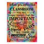 Inspirational Colorful  Classroom Poster