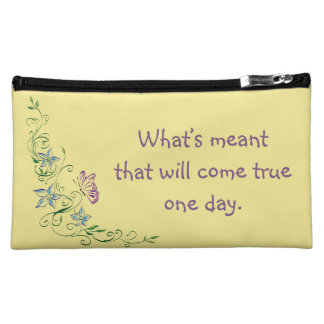 Inspirational Cosmetic Bag - Keep Moving