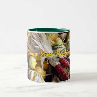 Inspirational Count Your Blessings Two-Tone Coffee Mug