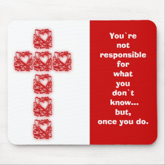 Inspirational Cross Of Hearts Mouse Pad