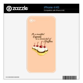 Inspirational Cupcakes iPhone 4S Skin