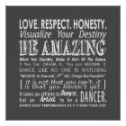 Inspirational Dance Quotes Poster- Grey Poster