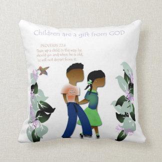 Inspirational decorative throw pillow