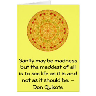 Inspirational Don Quixote quote Card
