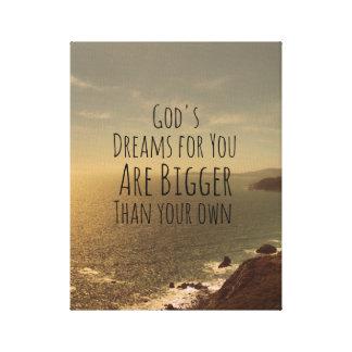 Inspirational Dream Big Quote Canvas Print