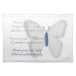 Inspirational Dream Poem Cloth Placemat