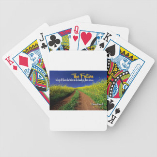 Inspirational Dream Quote -- Eleanor Roosevelt Bicycle Playing Cards