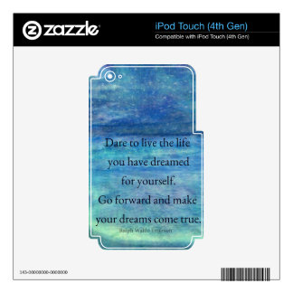 Inspirational DREAM quote Skin For iPod Touch 4G
