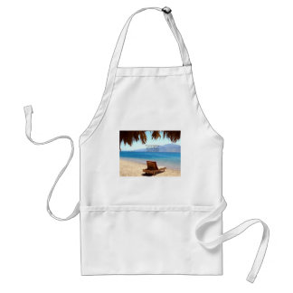 Inspirational DREAM quote with scenic beach photo Adult Apron