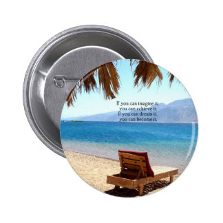 Inspirational DREAM quote with scenic beach photo Pins